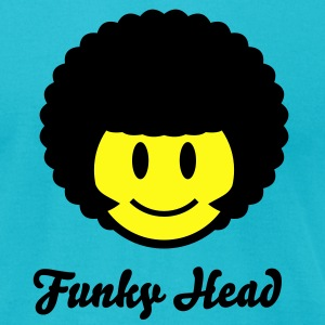 Afro Smiley Icon 2c T-Shirts - Men's T-Shirt by American Apparel