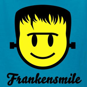 Frankenstein Smiley Icon 2c Kids' Shirts - Kids' T-Shirt