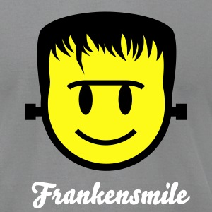 Frankenstein Smiley Icon 2c T-Shirts - Men's T-Shirt by American Apparel