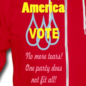 vote_america3 Zip Hoodies/Jackets - Unisex Fleece Zip Hoodie by American Apparel