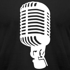 Microphone T-Shirts - Men's T-Shirt by American Apparel