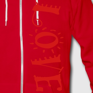 love101 Zip Hoodies/Jackets - Unisex Fleece Zip Hoodie by American Apparel