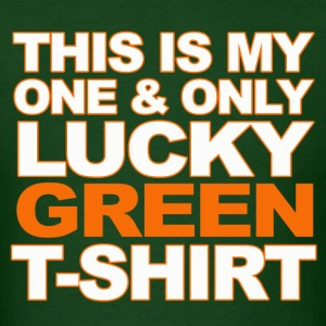 One and Only Lucky Green T-shirt - Men's T-Shirt