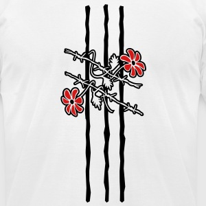 'Barbed Wire ' Men's T-Shirt by American Apparel - Men's T-Shirt by American Apparel