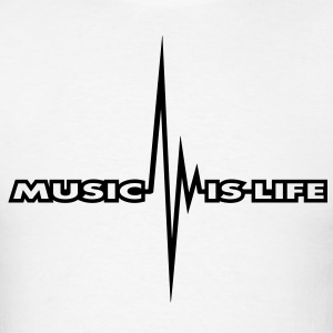 music_is_life_pulse T-Shirts - Men's T-Shirt