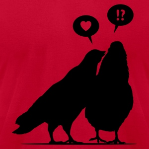 Love me now - Two Valentine Birds 1c T-Shirts - Men's T-Shirt by American Apparel