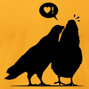 Kiss me Doves - Two Valentine Birds 1c T-Shirts - Men's T-Shirt by American Apparel