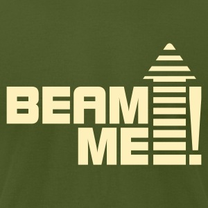 Beam me up 1_1c T-Shirts - Men's T-Shirt by American Apparel