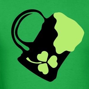 Green beer & shamrock Men's Standard Weight T-Shirt - Men's T-Shirt