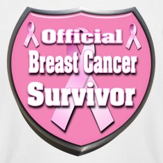 Breast Cancer Official Survivor Badge 4 correct T-Shirts