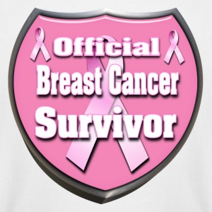 Breast Cancer Official Survivor Badge 4 correct T-Shirts - Men's Tall T-Shirt