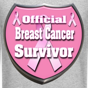 Breast Cancer Official Survivor Badge 4 correct Long Sleeve Shirts - Crewneck Sweatshirt