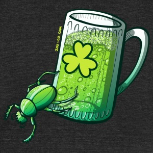 Saint Patrick's Day Beetle T-Shirts - Unisex Tri-Blend T-Shirt by American Apparel