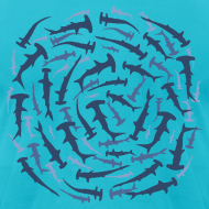 Design ~ animal t-shirt hammerhead shark shovelhead fish dive diver diving