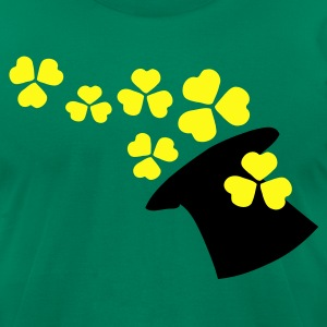 Shamrock hat st.patrick's day Men's T-Shirt by American Apparel - Men's T-Shirt by American Apparel