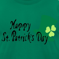 Happy St.Patrick's day shamrock Men's T-Shirt by American Apparel