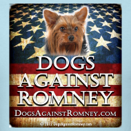 Design ~ Official Dogs Against Romney Yorkie Tee
