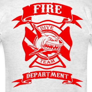 FIRE DEPT WATER RESCUE DIVE TEAM - Men's T-Shirt
