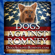 Design ~ Official Dogs Against Romney Yorkie Tie-Dye Tee