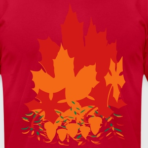 fall_leaves3 T-Shirts - Men's T-Shirt by American Apparel