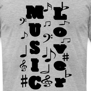music_lover1 T-Shirts - Men's T-Shirt by American Apparel