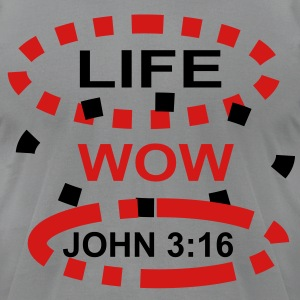 life_wow T-Shirts - Men's T-Shirt by American Apparel