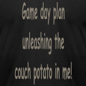unleashing_the_couch_potato_in_me_game_d T-Shirts - Men's T-Shirt by American Apparel