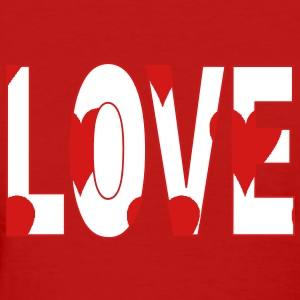 love_with_hearts3 Women's T-Shirts - Women's T-Shirt