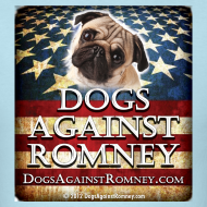 Design ~ Official Dogs Against Romney Pug Tee
