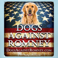 Design ~ Official Dogs Against Romney Golden Retriever Tee