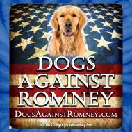 Design ~ Official Dogs Against Romney Golden Retriever Tie Dye Tee