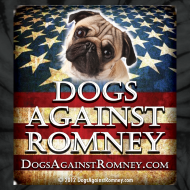 Design ~ Official Dogs Against Romney Pug Tie Dye Tee