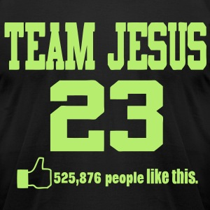TEAM JESUS 23 - Men's T-Shirt by American Apparel