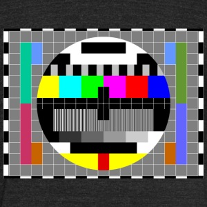 TV Test Pattern of Sheldon Cooper - Unisex Tri-Blend T-Shirt by American Apparel
