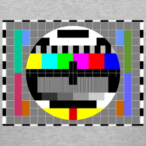 TV Test Pattern of Sheldon Cooper - Women's V-Neck T-Shirt