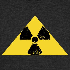 Radiation sign of Leonard of the Big Bang Theory - Unisex Tri-Blend T-Shirt by American Apparel