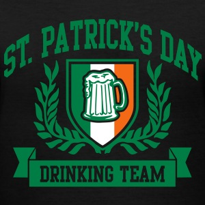 st. patrick's day drinking team Women's T-Shirts - Women's V-Neck T-Shirt