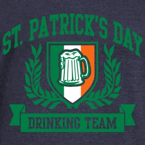 st. patrick's day drinking team Long Sleeve Shirts - Women's Wideneck Sweatshirt