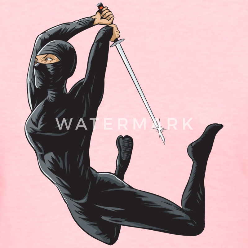 Female Ninja Assasin - Women's T-Shirt