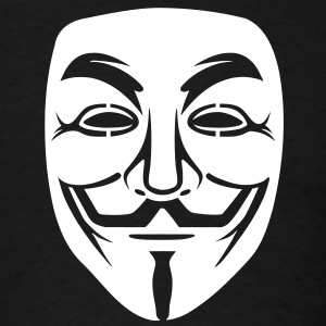 Anonymous/Guy Fawkes mask 1 clr T-Shirts - Men's T-Shirt