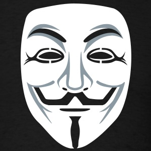 Anonymous/Guy Fawkes mask 2clr T-Shirts - Men's T-Shirt