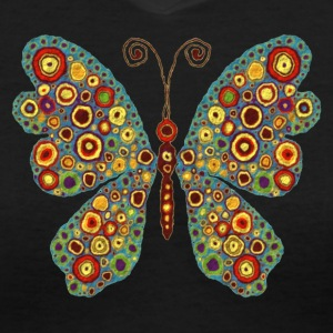 Abstract Butterfly - Women's V-Neck T-Shirt