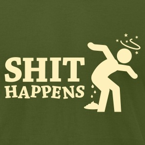 Shit Happens 2 T-Shirts - Men's T-Shirt by American Apparel