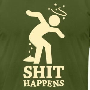 Shit Happens 1 T-Shirts - Men's T-Shirt by American Apparel