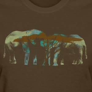 Elephants Butting Heads - Women's T-Shirt