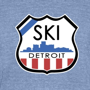 Ski Detroit T-Shirts - Unisex Tri-Blend T-Shirt by American Apparel