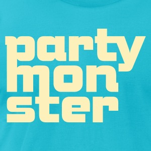 Partymonster / Party Monster Font No.1_1c T-Shirts - Men's T-Shirt by American Apparel