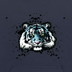 Tiger - Blue Graffiti Graphic Design - Unisex Sweatshirts - Kids' Hoodie