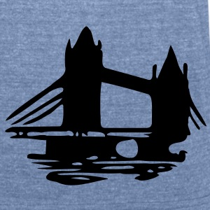 London Tower Bridge Men's Tri-Blend Vintage T-Shirt by American Apparel - Unisex Tri-Blend T-Shirt by American Apparel