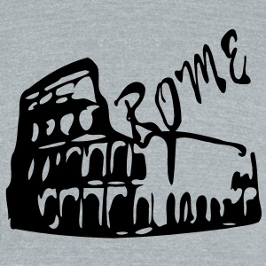 Colosseum Rome Italy Men's Tri-Blend Vintage T-Shirt by American Apparel - Unisex Tri-Blend T-Shirt